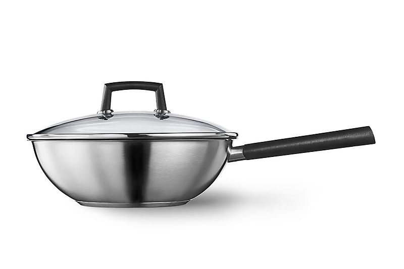 Wok, with lid